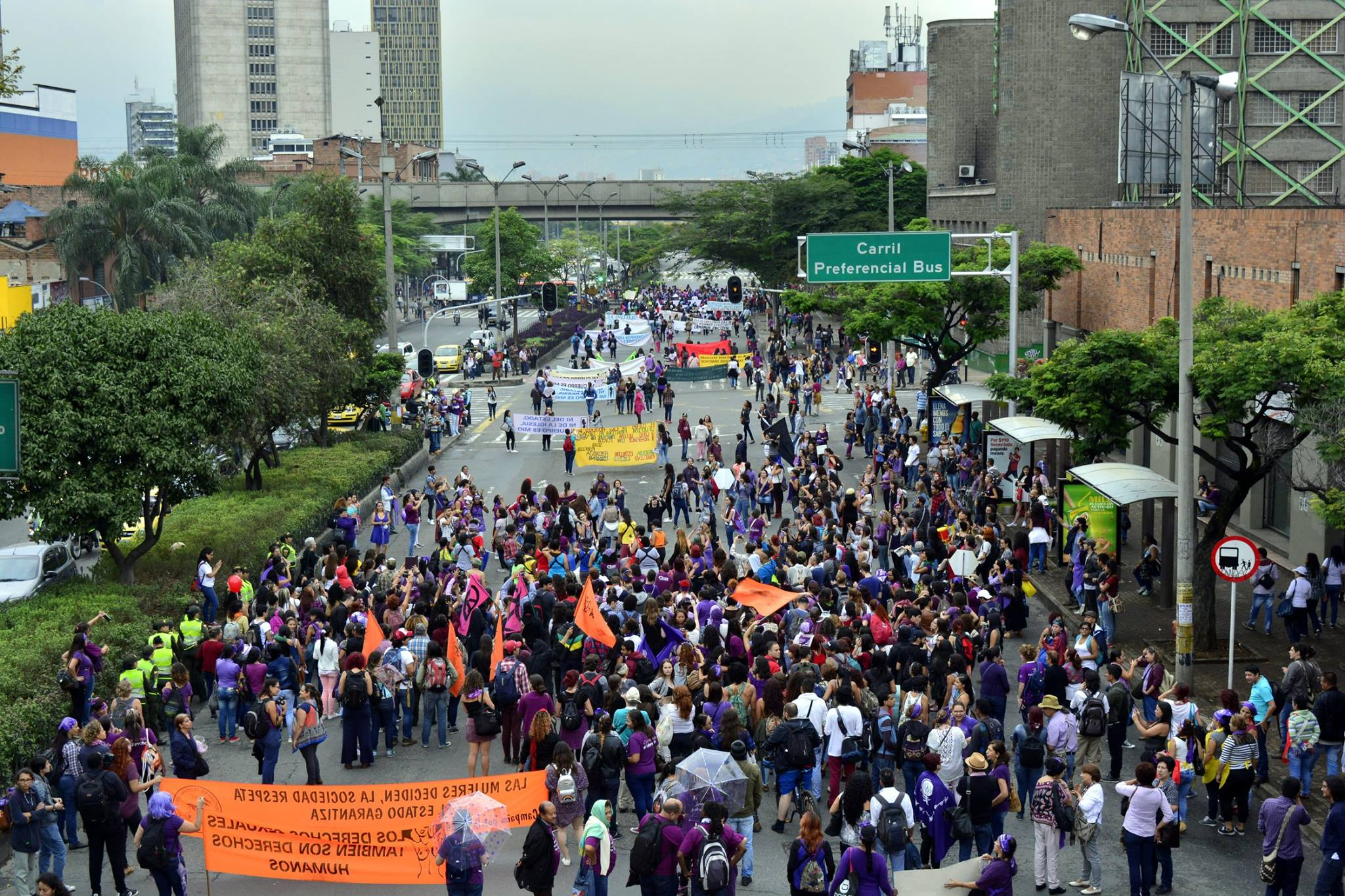 International Women's Day March In Medellin