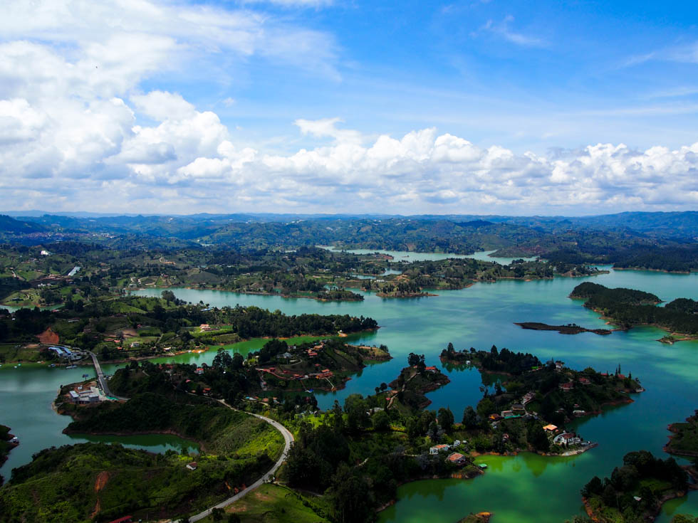Lakes in Guatape, Colombia