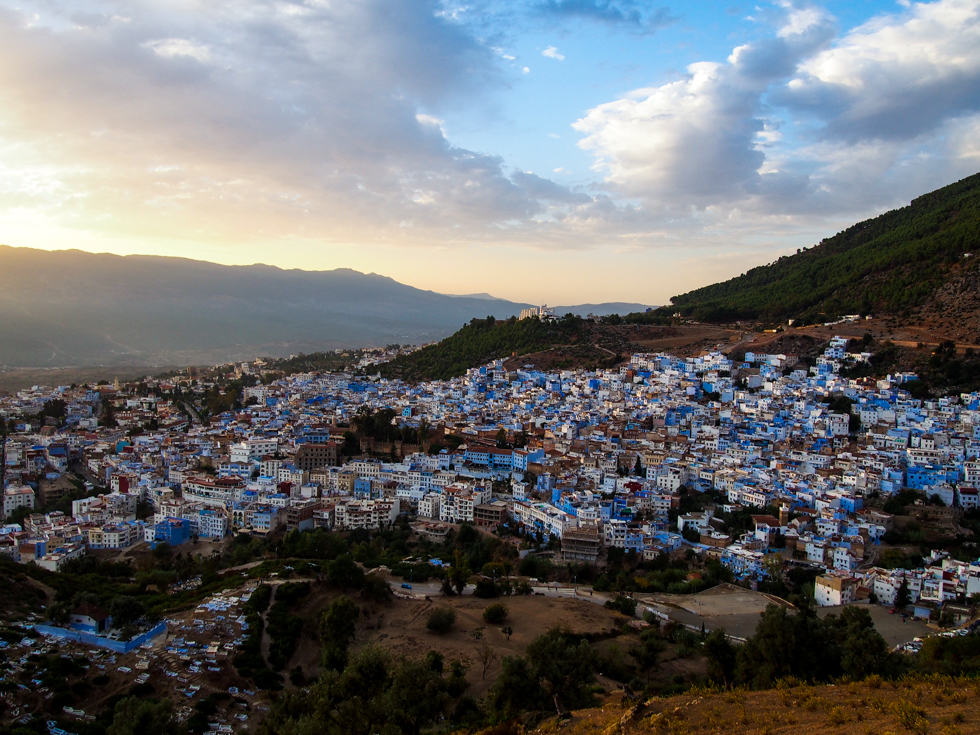 Chefchaouen, Morocco sunset