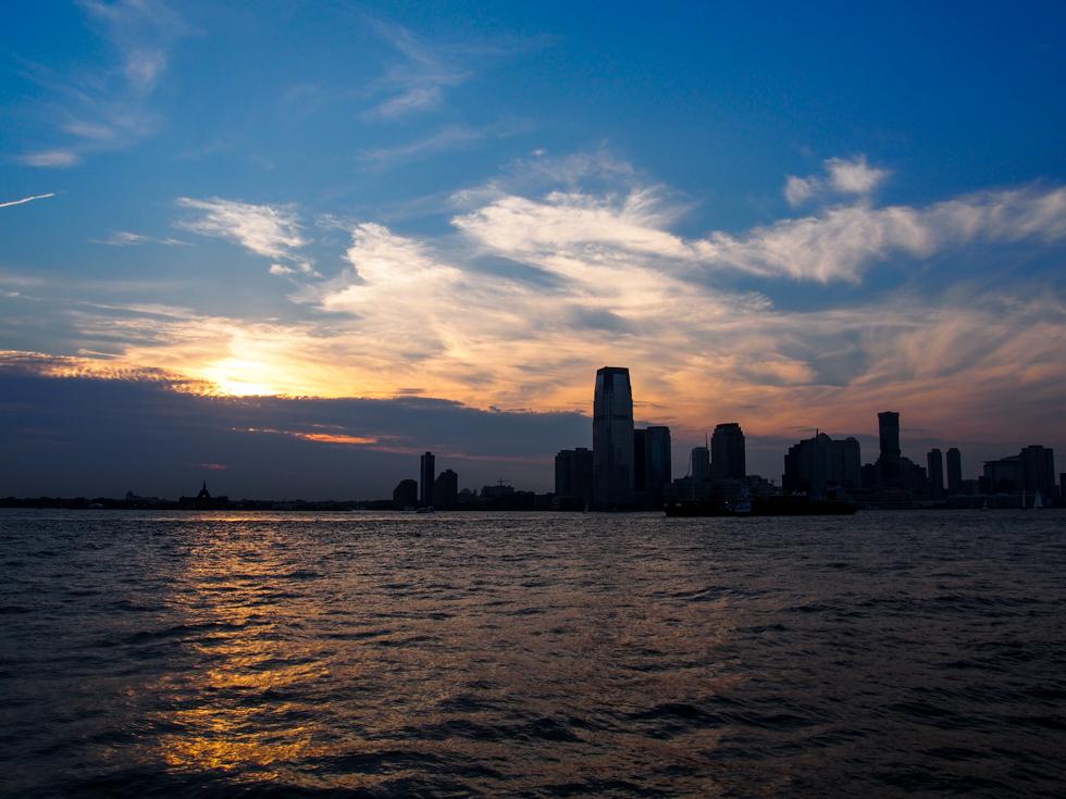 Battery Park Manhattan Sunset View of Jersey City